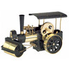 Wilesco D376 Black and Brass Steam Engine Roller Kit Version