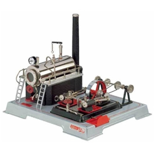 Wilesco D22 Twin Cylinder Model Toy Steam Engine - YesteryearToys.com