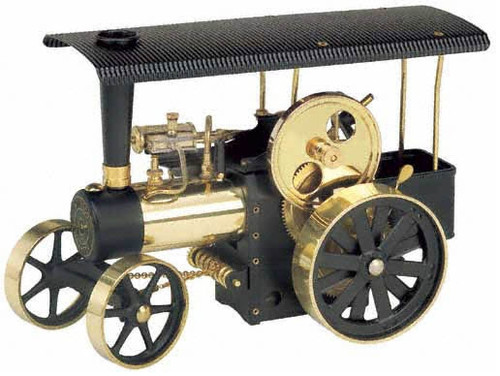Wilesco D406 Black/Brass Model Toy Traction Engine
