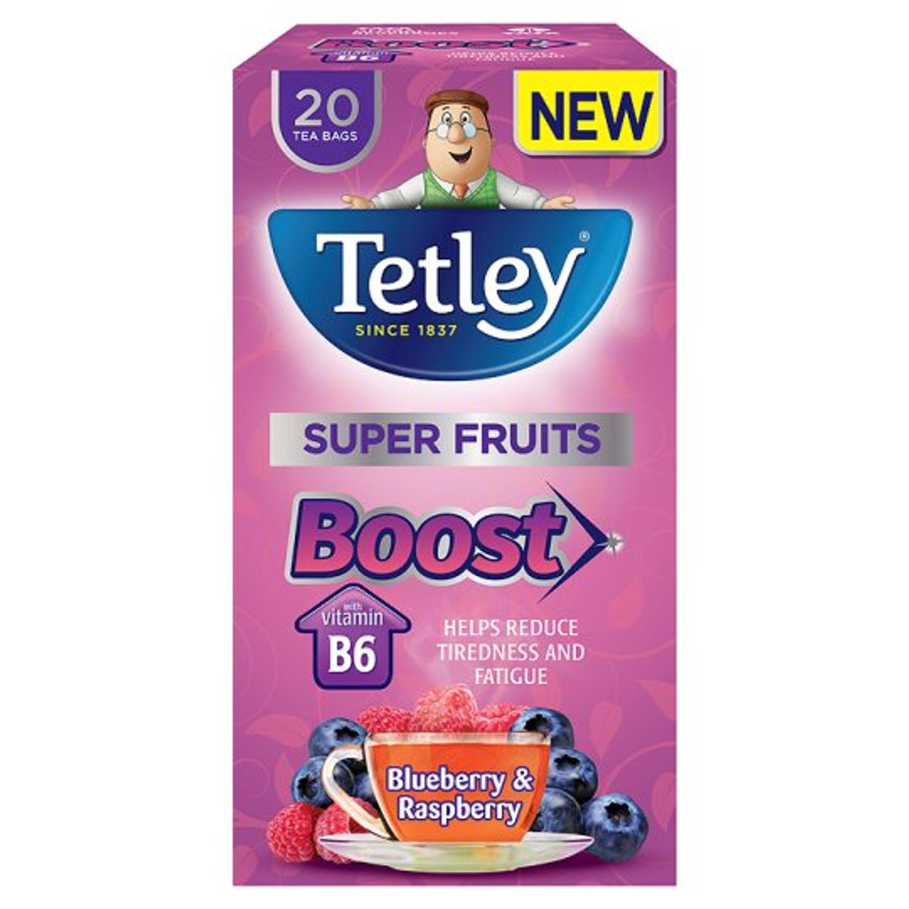 Tetley Boost Super Fruits Cranberry Elderflower Tea 20 Pare S Mysupermarket
