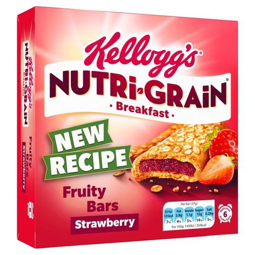 Kellogg's Nutri-Grain Breakfast Bakes Bars Strawberry 6 x 37g