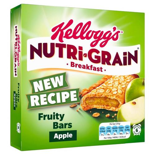 Kellogg's Nutri-Grain Apple Breakfast Bars 6 x 37g
