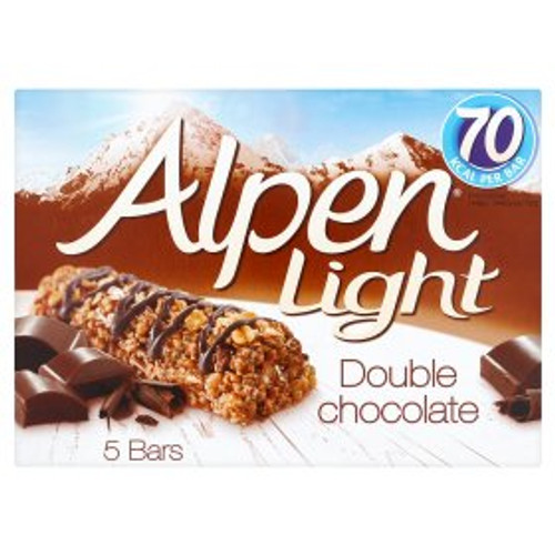 Alpen Light Double Chocolate Cereal Bars 5 x 19g