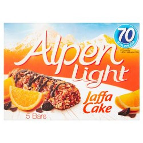 Alpen Light Jaffa Cake Cereal Bars 5 x 19g