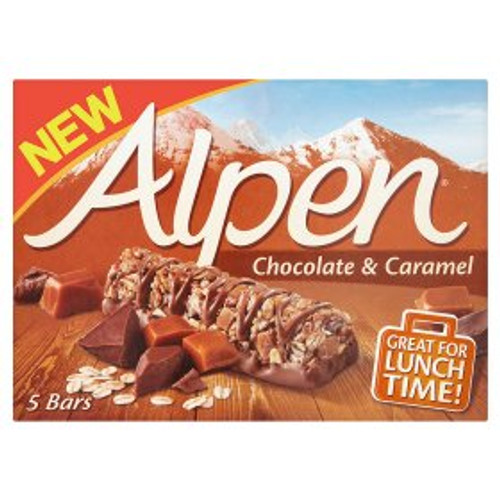 Alpen Caramel & Chocolate Cereal Bars 5 x 29g