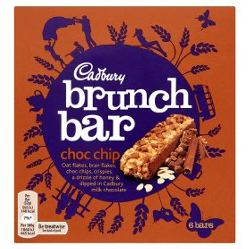 Cadbury Brunch Bar Choc Chip 6 x 32g