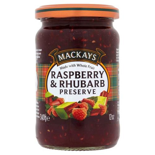 Mackays Raspberry & Rhubarb Preserve 340g
