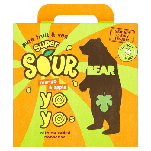 Bear Yo Yo's Super Sour Mango And Apple Fruit Rolls