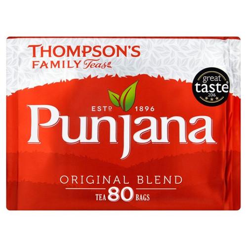 Thompsons Punjana Original Blend Tea Bags 80s 250g
