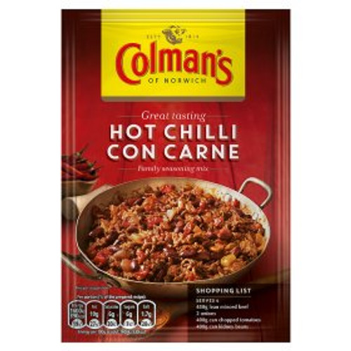 Colmans Hot Chilli Con Carne Mix 40g