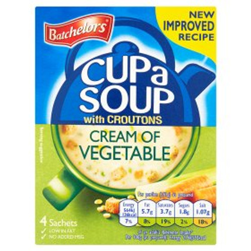 Batchelors Cream Of Vegetable Cup Of Soup
