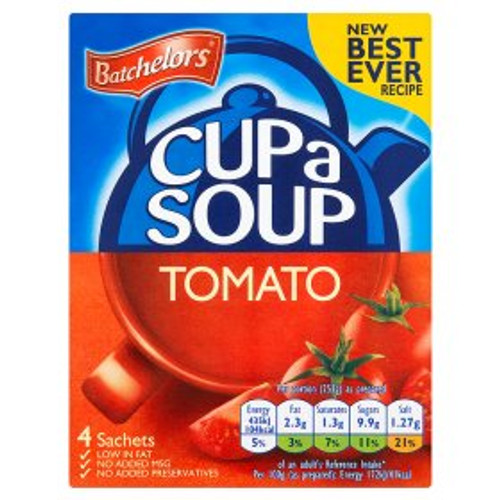 Batchelors Tomato Cup Soup 4 Sachets