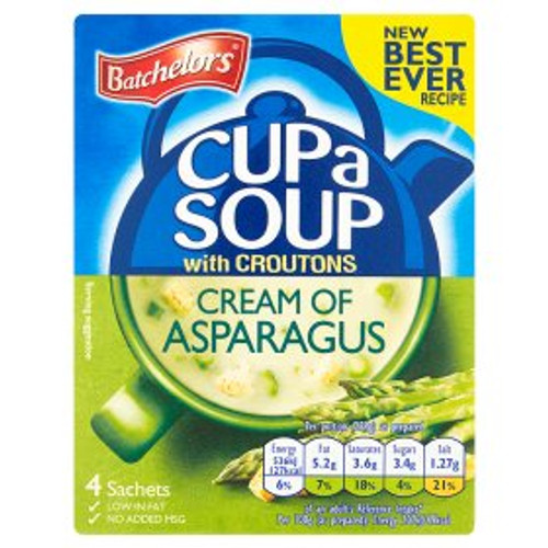 Batchelors Cream Of Asparagas Cup Of Soup 4 x Sachets