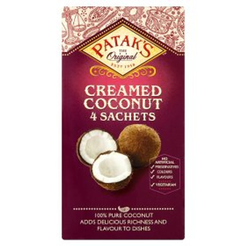 Pataks Cream Coconut 4 x 50g  Sachets