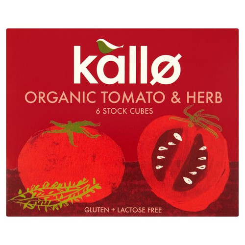 Kallo Tomato And Herb 6 Stock Cubes 66g