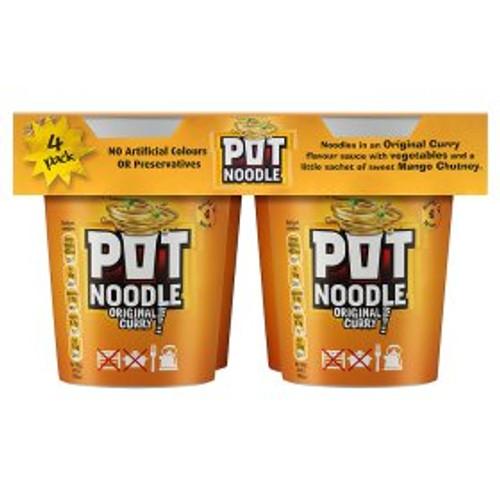 Pot Noodle Curry Flavour 4 x 90g