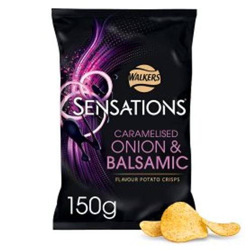 Walkers Sensations Caramalised Onion And Balsamic Vinegar 150g