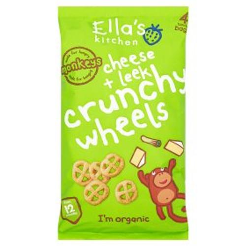 Ella's Kitchen Cheese & Leek Crunchy Wheels 4x15G