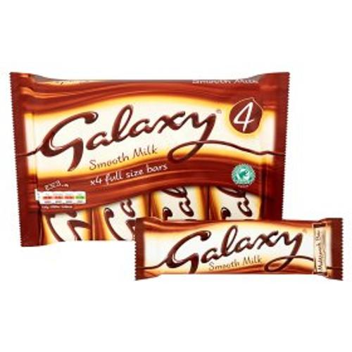 Galaxy Smooth Milk Chocolate Bar 4 Pack 4x42g