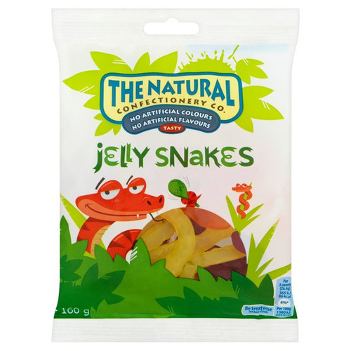 The Natural Confectionery Co Jelly Snakes 160g