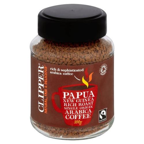 Clipper Fairtrade Organic Instant Papua New Guinea Coffee  100g