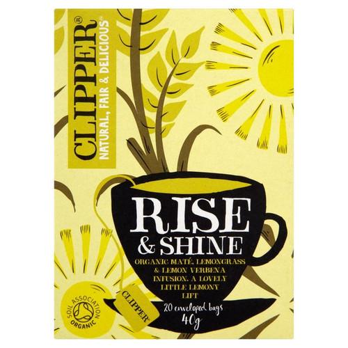 Clipper Rise & Shine Organic Mate, Lemongrass & Lemon Verbena Infusion 20 per pack