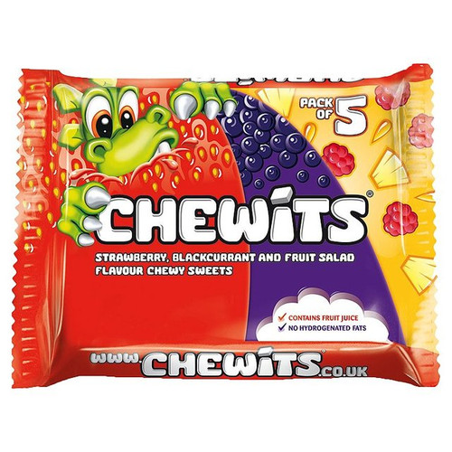 Chewits Strawberry, Blackcurrant & Fruit Salad Flavour Multipack 5 x 30g