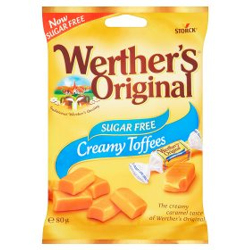 Werthers Toffee Bag 80g Sugar Free Candy