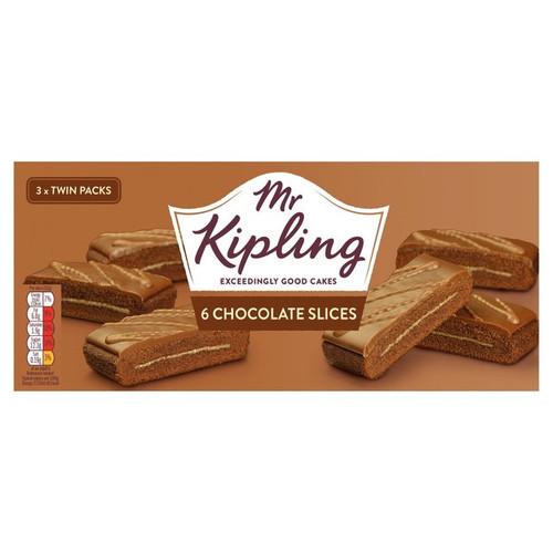 Mr Kipling 6 Chocolate Slices