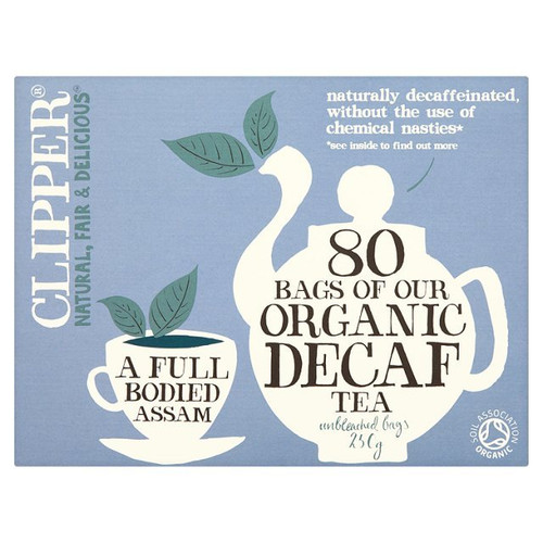 Clipper Organic Naturally Decaffeinated Tea Bags 80 per pack 250g