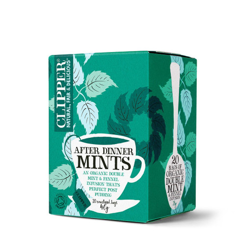 Clipper Organic After Dinner Mints, Double Mint Infusion 20 bags 38g