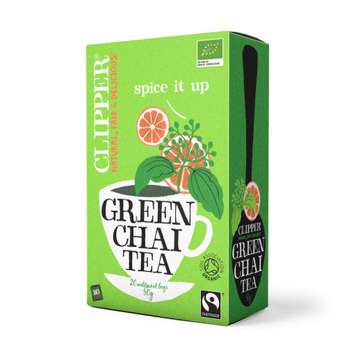 Clipper Fairtrade Organic Green Chai Tea 20 bags 50g