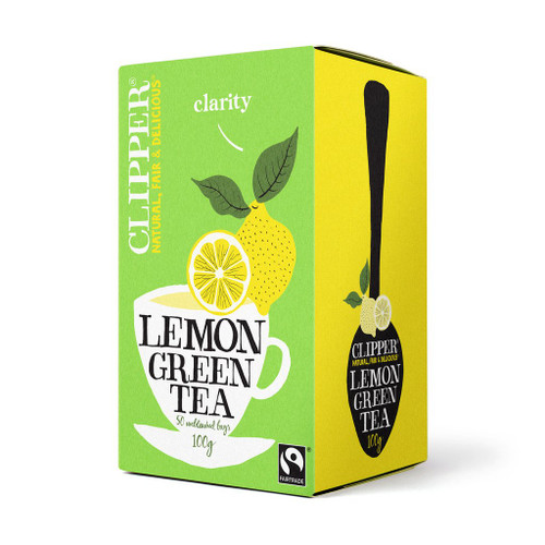Clipper Fairtrade Green Tea with Lemon 50 bags 100g