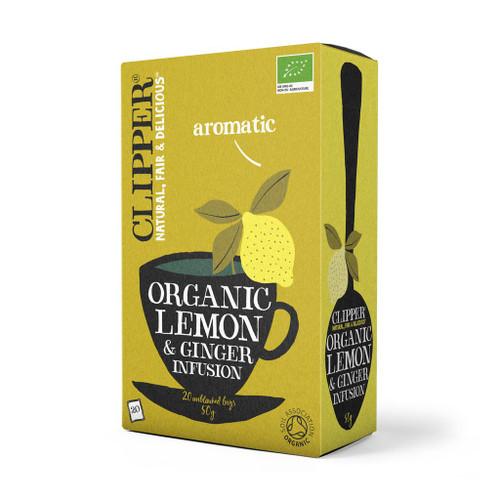 Clipper Organic Lemon & Ginger Tea 20 bags 50g