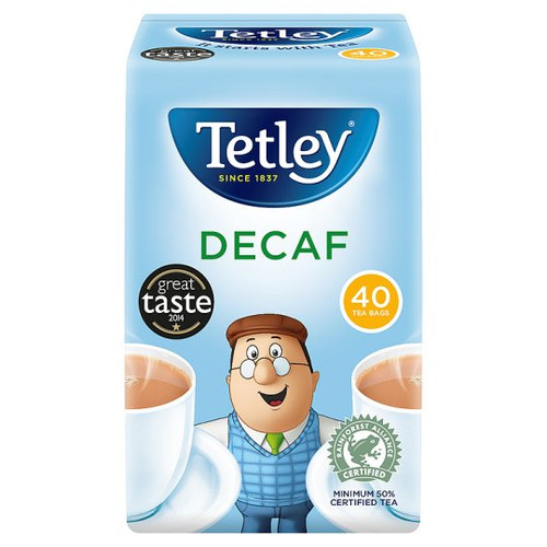 Tetley Decaffeinated 40 Tea Bags 125G