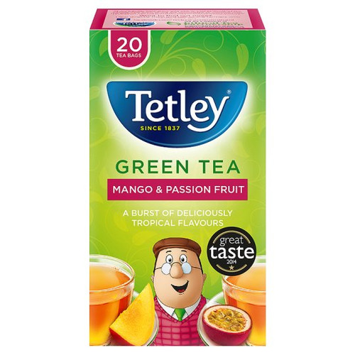 Tetley Green Tea Mango 20 Tea Bags 40G