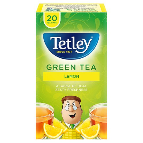 Tetley Green Tea Lemon 20 Tea Bags 40G