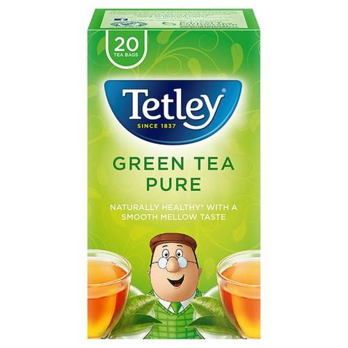 Tetley Green Tea Pure 20 Tea Bags 40G