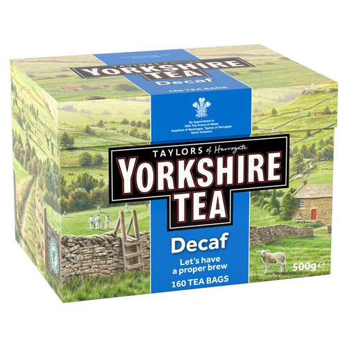 Taylors of Harrogate Decaffeinated Yorkshire Tea Bags 160 per pack