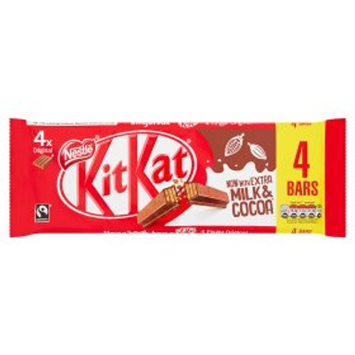 Nestle KitKat 4 Finger Chocolate Bar 4 Pack 4x41.5