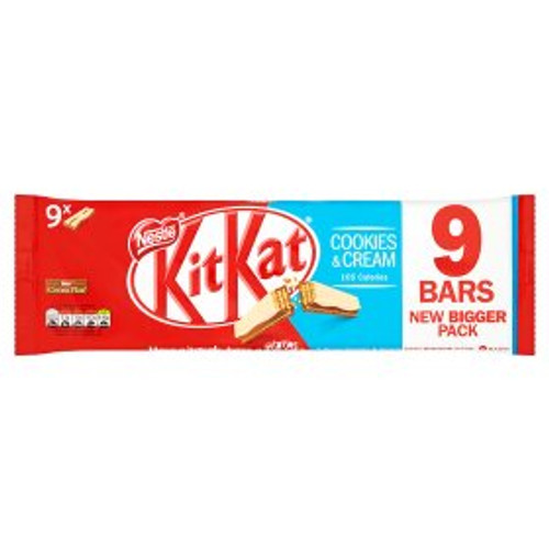 Nestle KitKat 2 Finger Cookies & Cream Chocolate Biscuit Bar 9x20.7