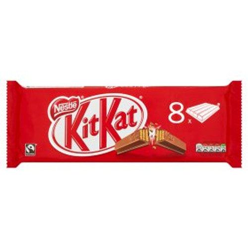 Nestle KitKat 4 Finger Milk Chocolate 8 Pack 8x41.5