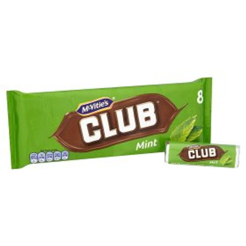 McVitie's Club Mint Chocolate Biscuit Bar 8 Pack 8x22g