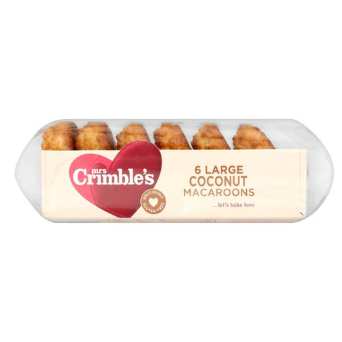 Mrs Crimble's Gluten Free 6 Large Coconut Macaroons 250g