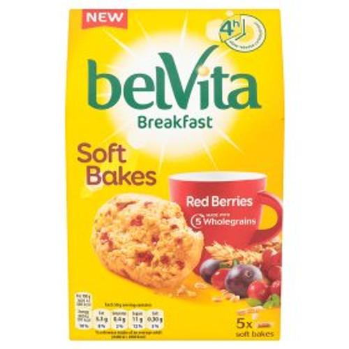 Belvita Breakfast Soft Bakes Red Berries 250g