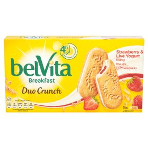 Belvita Breakfast Biscuits Duo Crunch Strawberry and Live Yogurt 253g