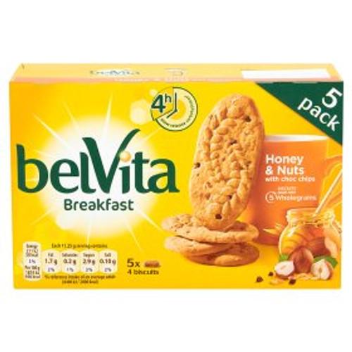 Belvita Breakfast Biscuits Honey & Nuts with Choc Chips 225g