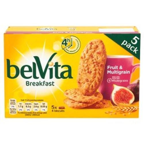 Belvita Breakfast Biscuits Fruit & Multigrain 5 Packs 225g