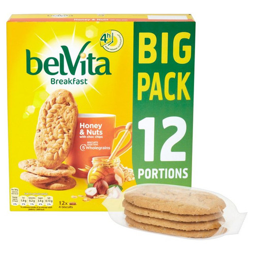 Belvita Honey & Nuts Big Pack 12 x 45
