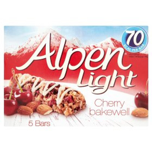 Alpen Light Cherry Bakewell Cereal Bars 5x19g